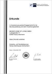 Ausbildungs-Urkunde IHK