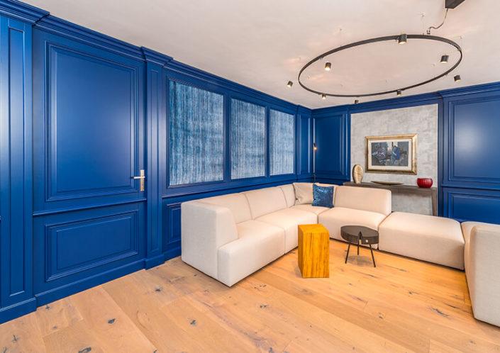 Wohnzimmer-Einrichtung blau