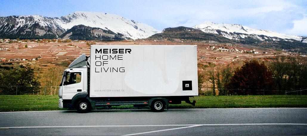 MEISER HOME OF LIVING Truck